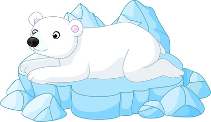 White Polar Bear cartoon
