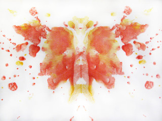Abstract watercolor butterfly drawing