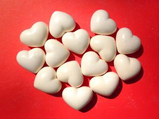 valentine day card white heart on red grunge background 6