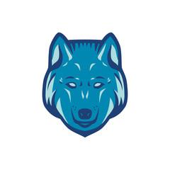 Wolf head logo. Three color concept. Logo template