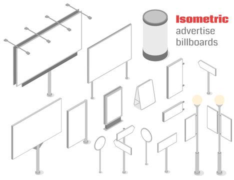 Isometric advertise billboards