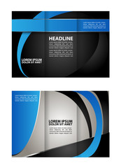 modern tri-fold template for advertising concept brochure in red