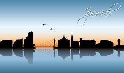 Ipswich UK skyline
