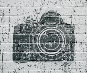 Art urbain, appareil photo grunge