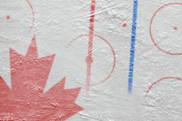 Canadian ice hockey playground