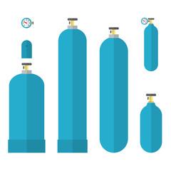 Oxygene tanks set