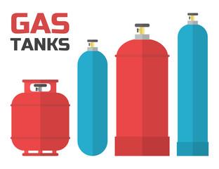 Gas tanks set.