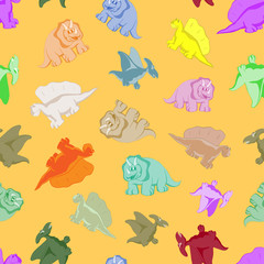 Funny colored dinosaurs