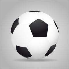 Shiny soccer ball. Vector element for design.
