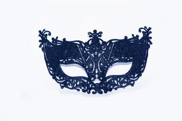 Beautiful blue face mask on white studio background (wallpaper)