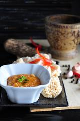 Thai Dish Rice Cracker with Dip Sauce