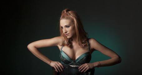 Sexy beautiful blonde woman