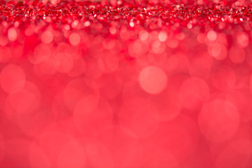 Red bokeh holiday textured Christmas decorations background