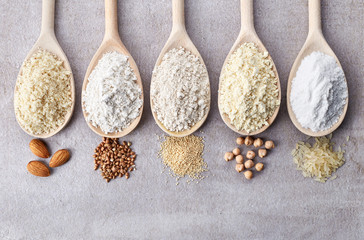 Various gluten free flour Wall mural