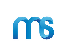 Colorful Letter M S Logo