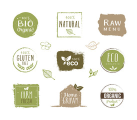 Eco Labels - Stickers, Healthy Lifestyle