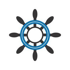 steering a ship logo