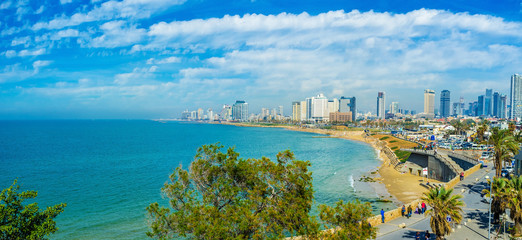 The coastline of Tel Aviv