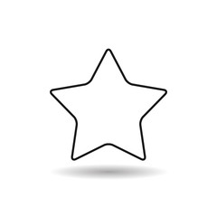 star with round corners black web icon