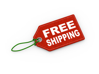 3d free shipping tag label word text