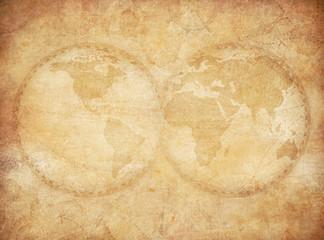 old vintage world map background