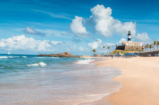 Barra Beach in Salvador de Bahia Brazil
