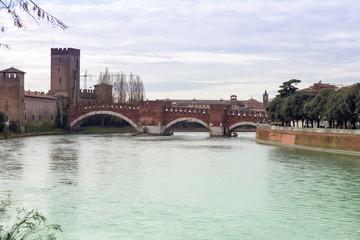 Adige river in Verona