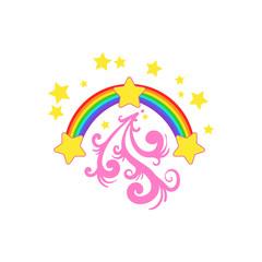 Rainbow And Stars Drawing