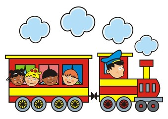 Locomotive and children