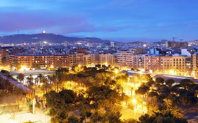 Barcelona skyline from Plaza Espana
