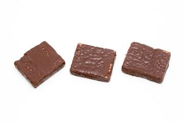Chocolate bar isolated white background