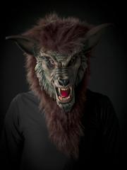 scary werewolf.