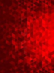 Red Abstract Geometric Triangle Vertical Background - Vector Illustration
