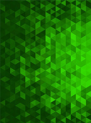 Green Abstract Geometric Triangle Vertical Background - Vector Illustration