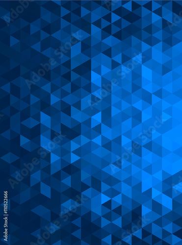 blue abstract geometric triangle vertical background - vector