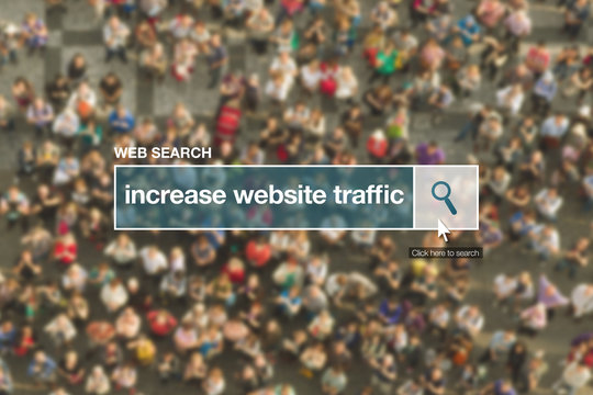 Increase website traffic web search bar glossary term