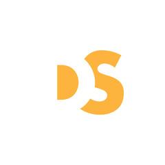 DS Logo | Vector Graphic Branding Letter Element | jpg, eps, path, web, app, art, ai | White Background