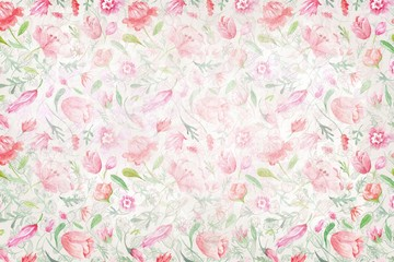 Vintage Background with Floral Texture