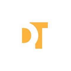 DT Logo | Vector Graphic Branding Letter Element | jpg, eps, path, web, app, art, ai | White Background