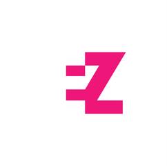 EZ Logo | Vector Graphic Branding Letter Element | jpg, eps, path, web, app, art, ai | White Background