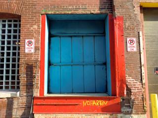 Industrial warehouse dock loading door