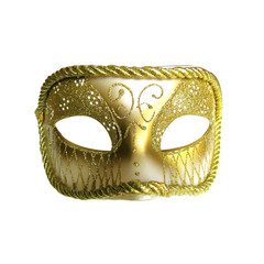 Golden mask isolated on white