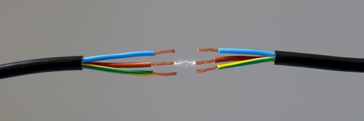 Kabel mit Funkenschlag, Panorama