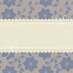 Stylish lace frame with blue flowers