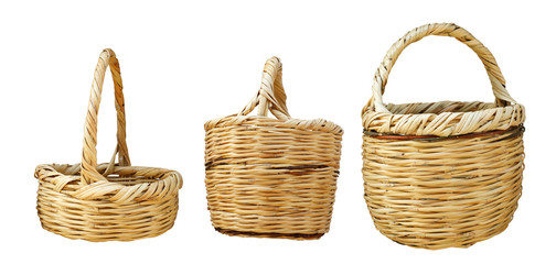 empty baskets isolated