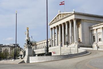 Parlament Wien, Parlament, Parlamentsgebäude, Wien, Dr.-Karl-Renner-Ring, Ringstraße, griechisch-römisch, Regierungssitz