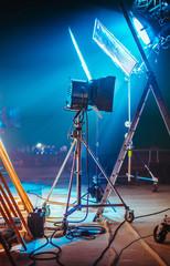 Cinematography Backstage Light Set Up