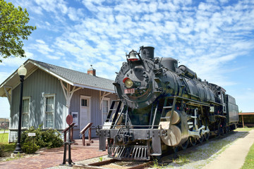 Old Railroad Steam Engine.
