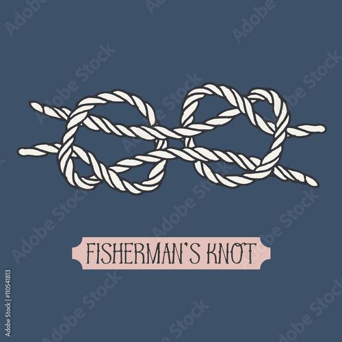 Single illustration of nautical knot