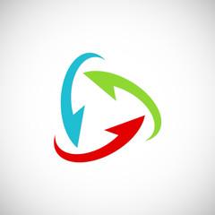 circle colored arrow vector logo
